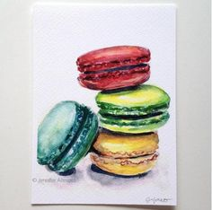 Macaron art print macaroons colorful kitchen by jenniferallevato, $15