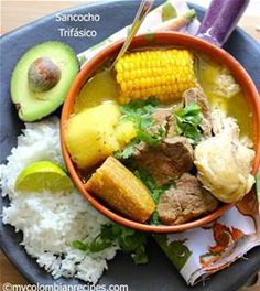 Sancocho Is A Common Colombian Dish That You Can Make With Fish Plantain Beef En Pigeon Peas Or Pork De Gallina Valluno