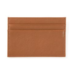 Tan Slim Card Case | Full Grain Cognac Leather | For HIM when a full wallet just isn't what he needs | Travel Wallet