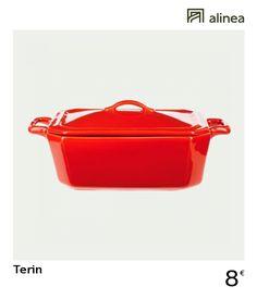 alinea :  terin terrine à foie gras en porcelaine rouge - l18cm   les soldes !   - #Alinea #Décoration #Rouge - inspiration meubles et déco