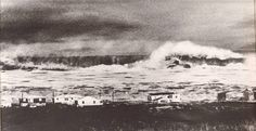 """""""You should've been here yesterday.""""       Ash Wednesday Storm  March 7, 1962  Kitty Hawk, N.C. (This picture also used to circulate as a great post card with the above quotation.)"""