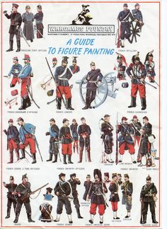 Franco-Prussian Uniforms. A painting guide that was compiled by the Perry Brothers back in the eighties for Wargames Foundry.
