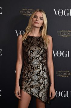 Lily Donaldson attends the Vogue 95th Anniversary Party on October 3, 2015 in Paris, France.