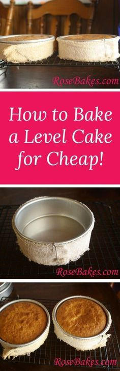 How to Bake a Level Cake for Cheap
