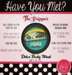 How awesome is this detox, the Stripper?    #perfectlyposh #madeinUSA #crueltyfree #detox #thestripper #stripper #skin #bodymud #detoxbodymud #takeitalloff #tryme #naturalingredients #body #mud #massage #acne #bites #pamper #youdeserveit