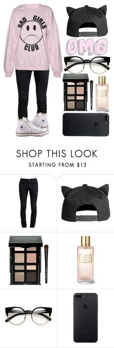 """My Saturday Style #2"" by casualbandgirl ❤ liked on Polyvore featuring Yves Saint Laurent, H&M, Bobbi Brown Cosmetics, Estée Lauder, Converse, ZeroUV, Pink, black, teen and saturday"