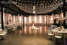 The elegant and quirky York Mills Galleries, located in midtown Toronto, offers an urban industrial loft-style space that is available to host wedding and other types of events. A background of windows, classic drapery and brick as well as industrial