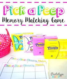 Easy Preschool activity Pick a Peep Memory Matching Game #PEEPSonality #kidsactivities