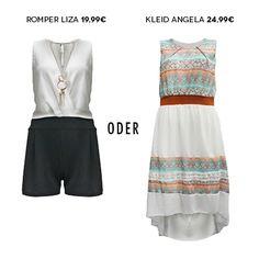 Wie startest Du am Liebsten in die Woche, mit Romper oder Sommerkleid?  #mycolloseum #trendingnow #romper   #sommer   #montagmotivation