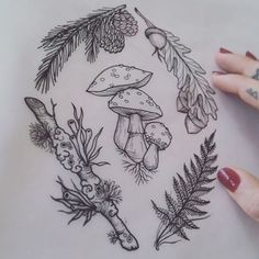 In love with this style of botanical stuff Analytics Mehr Tattoo Fleur, Et Tattoo, Piercing Tattoo, Tattoo Drawings, Piercings, Nature Tattoos, Body Art Tattoos, Cool Tattoos, Tatoos