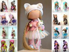 Rag doll Fabric doll Summer doll Handmade doll Pink doll Puppen Soft doll Cloth doll Baby Muñecas doll Tilda doll Interior doll by Yulia G __________________________________________________________________________________________ Hello, dear visitors! This is handmade soft doll