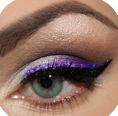 Cheer makeup..I want to do this in green for comp!!