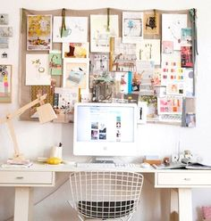 ONE OF THE THING I MISS ABOUT WORKING IN MAGS… everyone from the editorial assistant to the editor had great inspiration boards! Actually, I'm going to start one in my home office ~ stay tuned… Do you have one? {Pics: Pinterest}