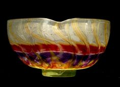Galle, Emile (French, 1846-1904)Lobed Bowl