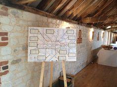 Tube map table plan