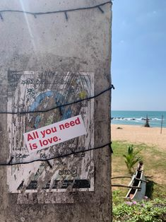 Do you sea the love?  #aynil #srilanka #sticker #love #streetart #aynil_org #allyouneed #nofilter #photography #art #allyouneedislove All You Need Is Love, Street Art, Urban Art