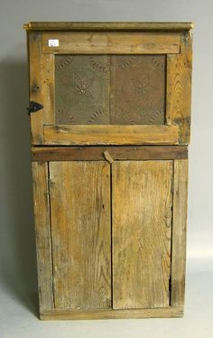 Yellow pine pie safe, late 19th c., 50 1/2'' h.,