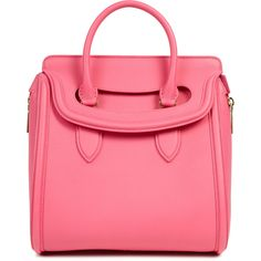 Alexander McQueen Heroine Medium Grained Leather Tote ($2,680) ❤ liked on Polyvore