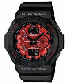 G-Shock Watch, Men's Analog Digital Black Resin Strap 52x55mm GA150MF-1A