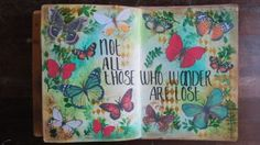 Art journal page: Not all those who wonder are lost