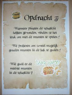 Piratentocht, Opdracht 3. -CE-
