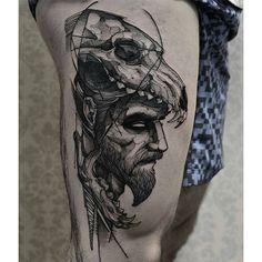 """Tatuagem feita por <a href=""""http://instagram.com/fredao_oliveira"""">@fredao_oliveira</a> -  Wolf skull"""