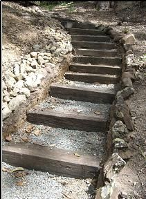 1000 images about steps up a slope on pinterest for Pre built stairs