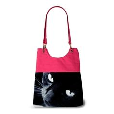 Sac à main rose chat collection chat noir isis