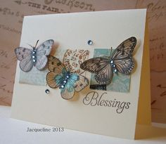 card butterfly hero arts stamp butterflies square squares scrap using scraps sentiment: Blessings - kort med sommerfugle stempler fra Hero Arts Diy Cards, Your Cards, Butterfly Cards, Paper Butterflies, Card Making Inspiration, Card Tags, Creative Cards, Scrapbook Cards, Homemade Cards