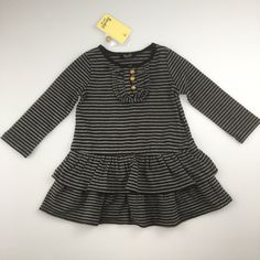 Dresses Girls' Clothing (0-24 Months) Inventive Bnwt Baby Girl Grey Knitted Dress With Tights Age 6-9 Months From M&s Pretty And Colorful