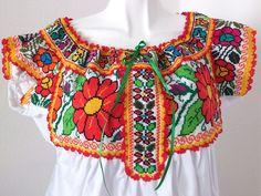 blusas bordadas de michoacan - Buscar con Google