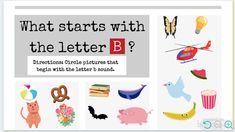 Letter B Beginning Sound Practice | Readyteacher.com Kindergarten Freebies, Kindergarten Learning, Beginning Sounds, Technology Integration, Teacher Tools, Letter Sounds, Letter B, Book Activities, Childrens Books
