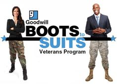 Goodwill Southern California offers a Boots to Suits program that helps veterans get work attire for their new career once they arrive home