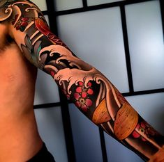 Search inspiration for a Japanese tattoo. Dragon Sleeve Tattoos, Tribal Sleeve Tattoos, Best Sleeve Tattoos, Sleeve Tattoos For Women, Tattoo Sleeve Designs, Arm Tattoos, Body Tattoos, Tatoos, Japanese Leg Tattoo