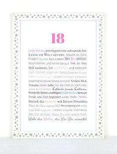 Gedicht Zum 18geburtstag Geschenkideen 18 Geburtstag Sprüche