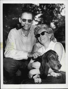 Marilyn Monroe And Arthur Miller with Hugo Miller And Monroe Engaged (1956) Roxbury, CT Press Photo Photography by Charles Carson