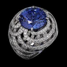 Platino, uno de zafiro 20,96 redonda, brillantes -carat