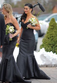 Snooki's Wedding: New Photos From 'Jersey Shore' Star Nicole Polizzi's Nuptials Jenni (Jwow) bridesmaid