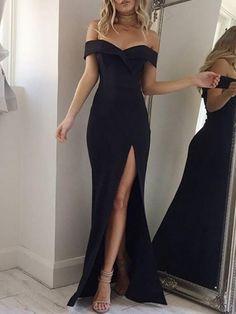 Elegant Sweetheart Neckline High Slit Pleated Maxi Dress