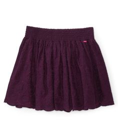Embroidered Circle Woven Skirt - Aeropostale