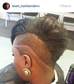 Cut Natural Hair Short Cuts, Funky Short Hair, Short Hair Cuts, Natural Hair Styles, One Side Shaved Hairstyles, Mohawk Hairstyles, Natural Hair Transitioning, Transitioning Hairstyles, Hair Color For Black Hair