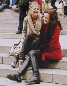 Blair and Serena are best friend goals