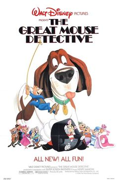 The great mouse detective movie online. Rodent sherlock holmes, investigates the kidnapping of. Classic film by walt disney with famous mouse detective named basil. Disney Films, Disney Pixar, Walt Disney Animated Movies, Animated Movie Posters, Disney Movie Posters, Disney Wiki, Good Animated Movies, Film Posters, Disney Vintage