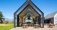 Idea Kombuis Restaurant by Steyn Studio in South Africa Gazebo, Pergola, Casa Hotel, Restaurant Pictures, Dutch House, Wooden Terrace, Restaurant Seating, Modern Barn, House Front
