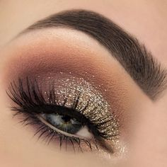 """It's always a good time for some glam ✨ Glitter from @makeupstore, @anastasiabeverlyhills dipbrow ""granite"", @ardell_lashes ""Wispies"" and shadows from…"""
