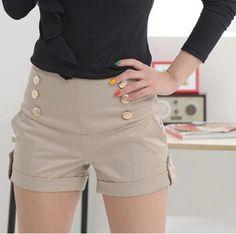 Venda quente 2015 calções de moda mulheres Patchwork Plus Size Shorts de cintura alta moda Shorts em Shorts de Roupas e Acessórios no AliExpress.com   Alibaba Group
