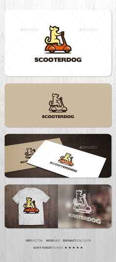 Scooter Dog Logo #drive #delivery #fast • Click here to download ! http://graphicriver.net/item/scooter-dog-logo/12514888?ref=pxcr