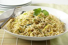 Summer Squash with Angel Hair : Healthy Pasta Recipes