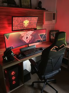 10 DIY Computer Desk Ideas for Home Office Surprising computer desk n just on interioropedia home design desk setup Custom Computer Desk, Computer Gaming Room, Gaming Computer Desk, Gaming Room Setup, Computer Technology, Gaming Pcs, Pc Setup, Razer Gaming, Technology Apple