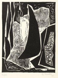 RUDOLF FRANKE - Abstrakte Komposition - Linolschnitt 1966 • EUR 80,00 - PicClick DE